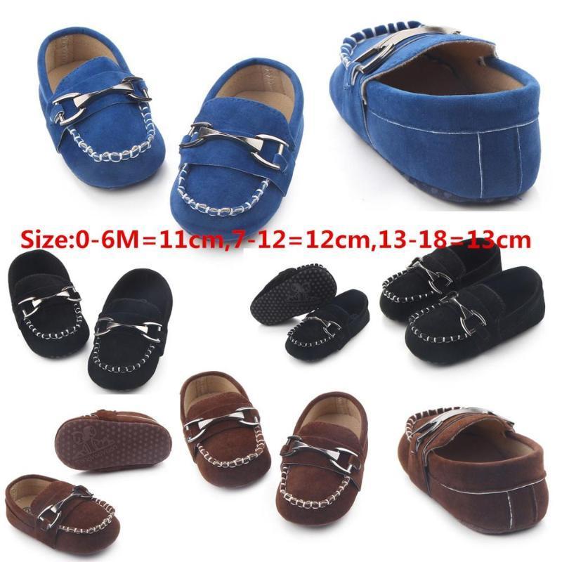 Кожа ребенка обувь Мокасины ребенок первый ходунки черные ботинки для новорожденных кожаном мальчика для 0 -1year детей оптовой