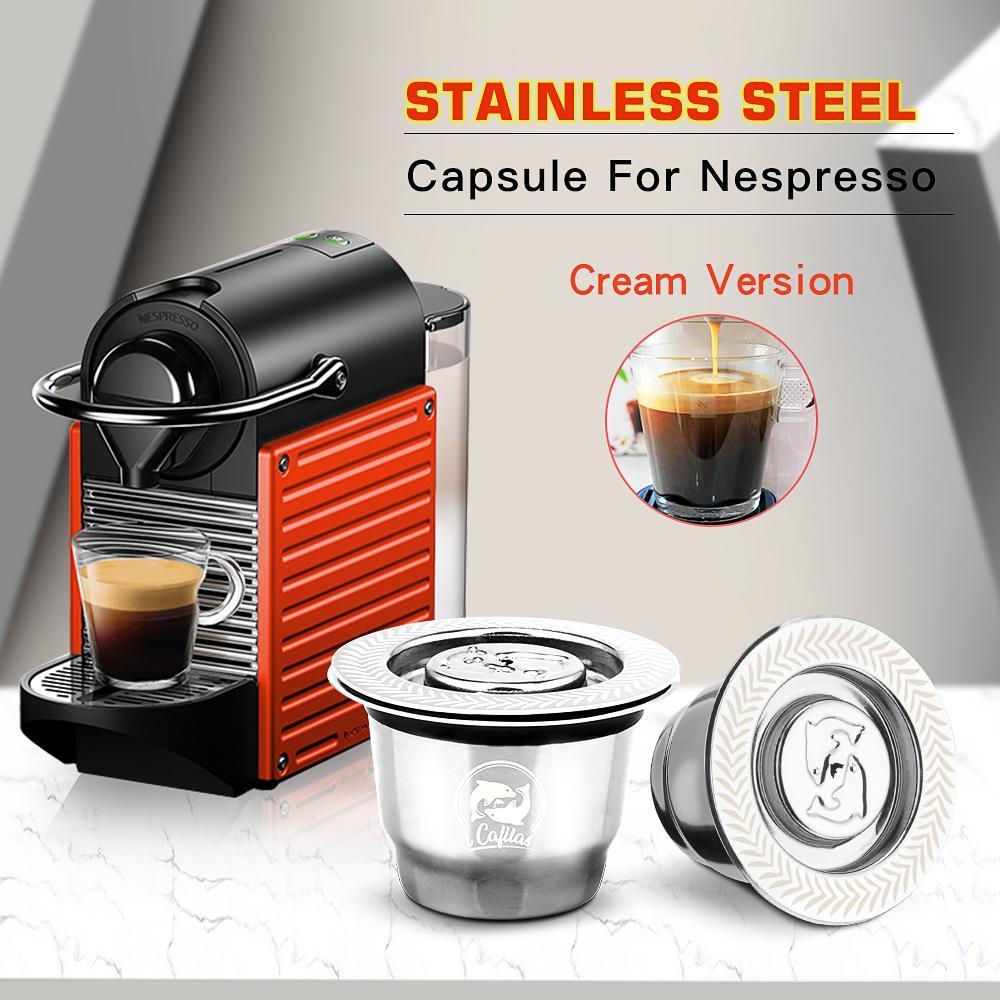 Nespresso Reutilisable nachfüllbare Kapsel Crema Espresso Wiederverwendbare New nachfüllbare für Nespresso