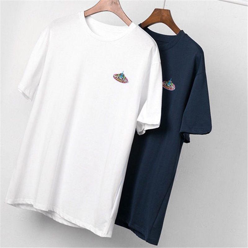 Мужская тенниска 20SS Fashion Show Iron башенные напечатаны Polos футболки с коротким рукавом для мужчин и женщин Hip Стилист высокого качества хоп Тис