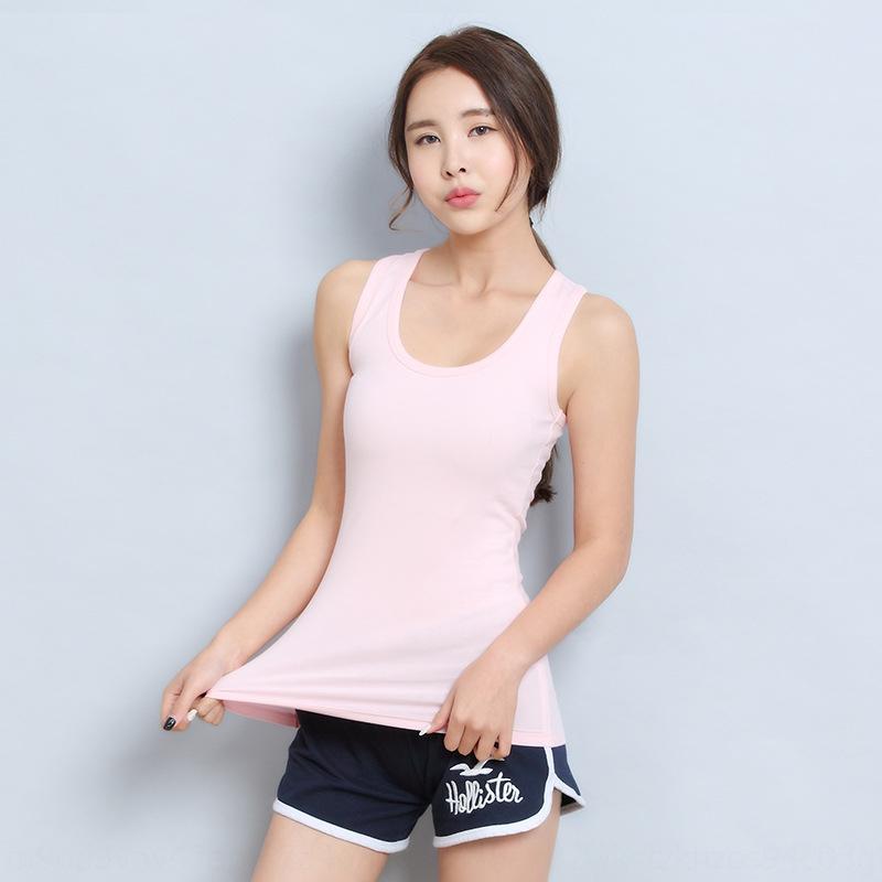 todo-fósforo de los deportes de verano de las mujeres adelgazan el chaleco de la ropa interior de tocar fondo en forma de chaleco que las mujeres de gran tamaño de la camisola blanca interior aWmd2