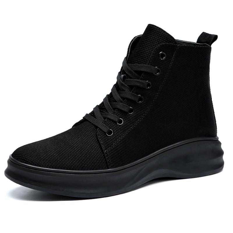 Erkek sonbahar martin çizmeler yüksek sokak nefes çok yönlü İngiliz erkek rahat ayakkabılar ilkbahar sonbahar ve kış için uygun