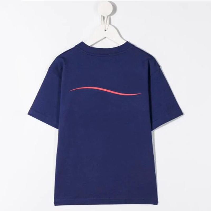 Garçons filles t-shirt t-shirt garçons vêtements coton lettre lettre imprimé à manches courtes enfants t-shirt de haute qualité enfant tees