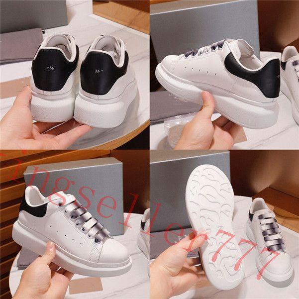 2020 Yeni Erkekler Bayan Moda Beyaz Deri Siyah Geri Platformu Ayakkabı Düz Rahat Ayakkabılar Lady Siyah Pembe Altın Kadın Beyaz Sneakers 35-44
