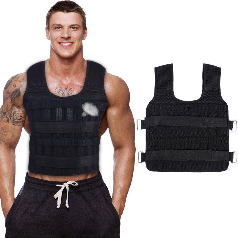 30KG Esercizio Caricamento del peso della camicia Boxing Esecuzione Sling-pesi allenamento fitness regolabile Giacca Gilet Sand Abbigliamento
