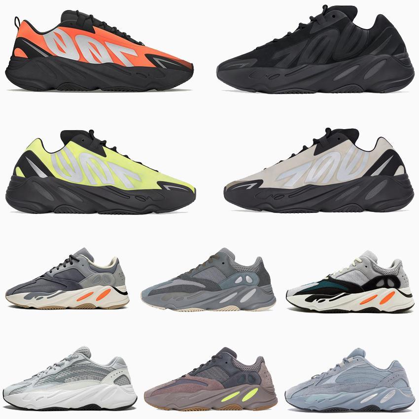 2020 Kanye West fosforo arancione Mens Tie-dye SHOES Teal Blu Statico Malva in corso 700 corridore onda riflettenti Sneaker Sneakers