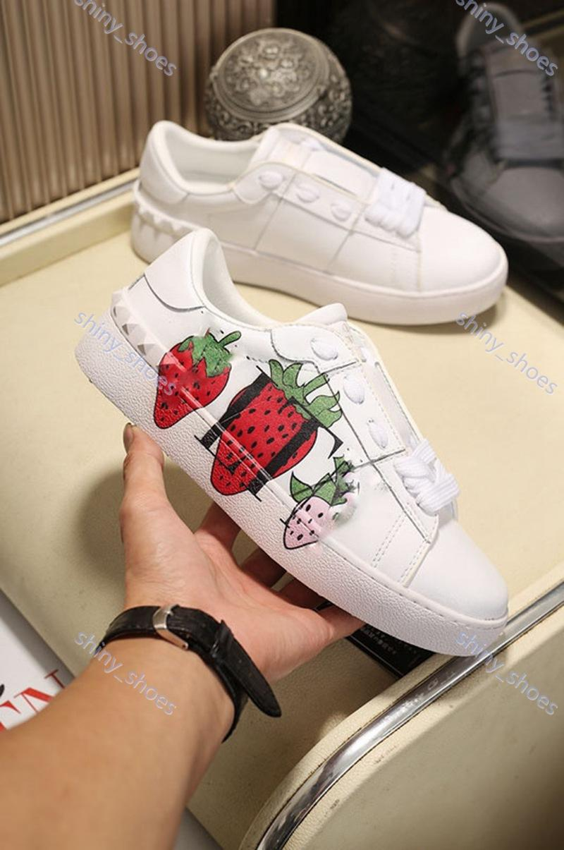Valentino casual shoes Paris luxe 2020 uomini scarpe da sera delle donne di modo tripla nero nastro rosso rosa strisce verdi del cuoio di formato scarpe sportive sneaker 36-4