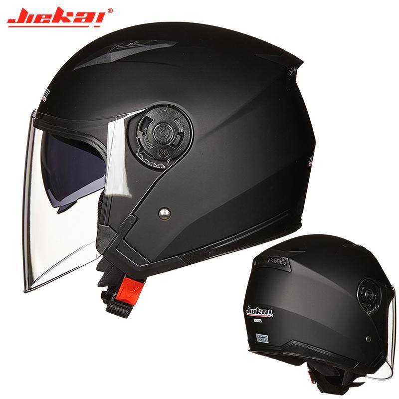 Jiekai demi-casque de moto Open Face Capacete Casque Motocicleta Cascos Para Moto Racing Moto Vintage Casques