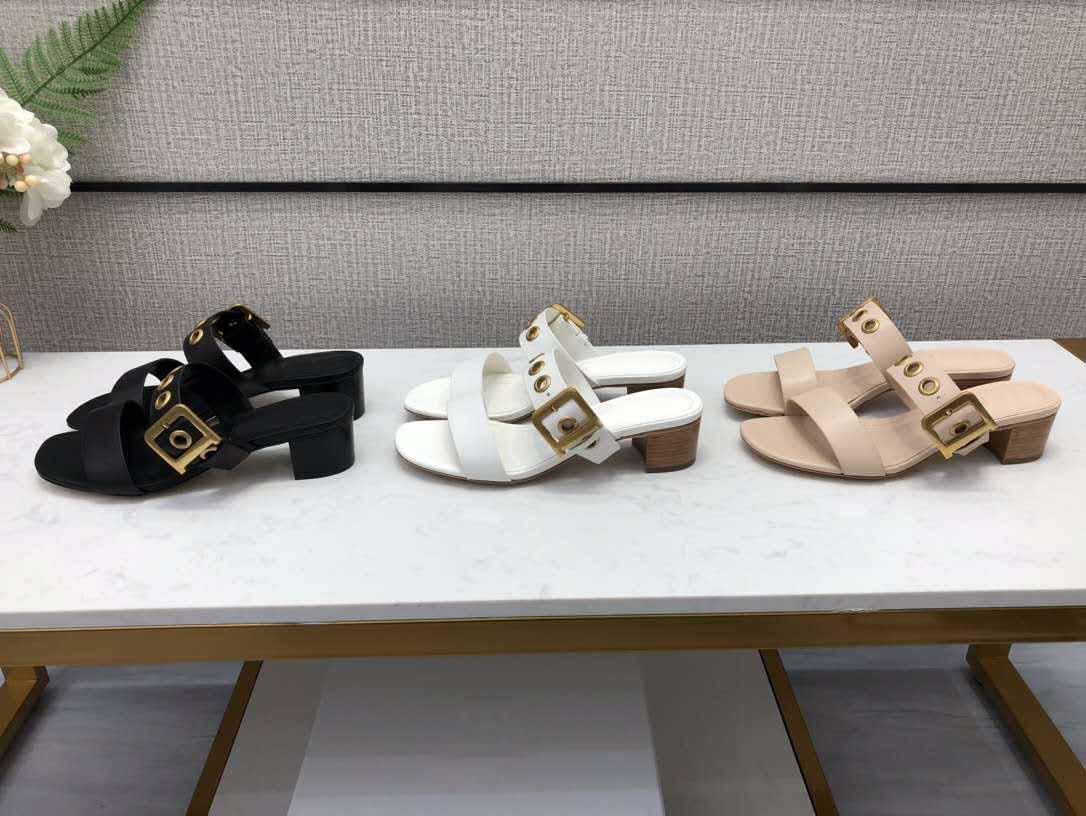 Летние сандалии дизайнер роскошные дамы высокого качества моды сандалии и тапочки сексуальный открытым носком квадратный каблук высокий каблук сандалии большой размер 35-42