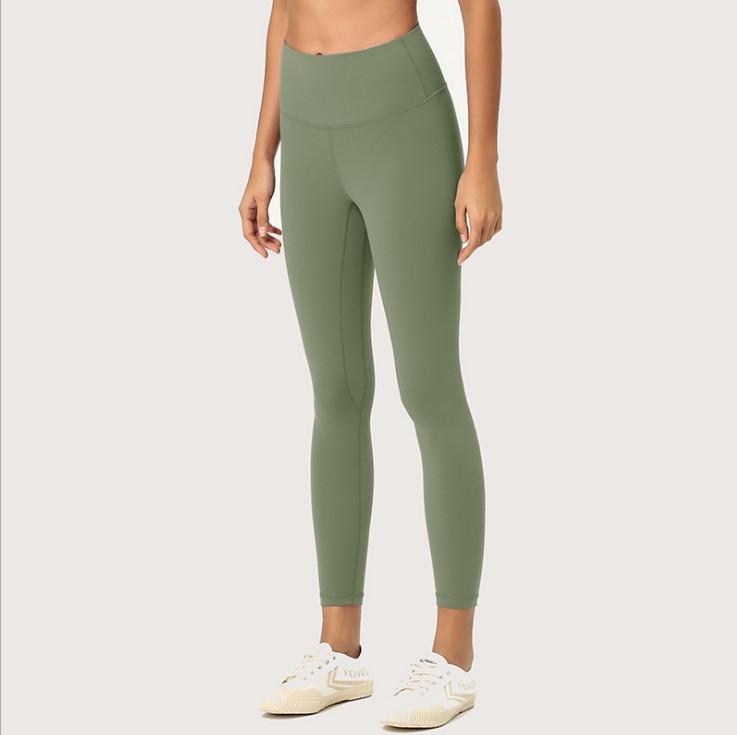 طماق Yogaworld النساء اليوغا مبطن السراويل اللياقة البدنية التدريب ماتي عارية كابريس عالية الخصر الجوارب تمتد وتجفيف سريع