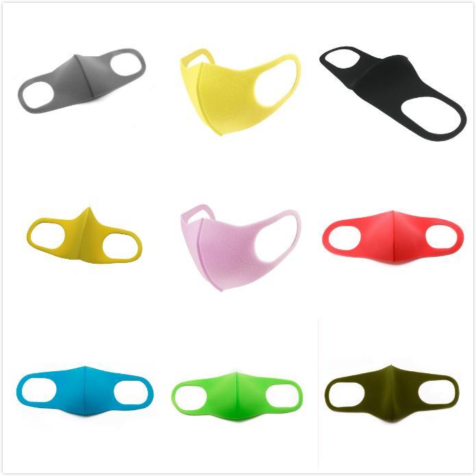 DHL Adulte Enfants opp Sac Masques Visage Earloop Pliable Masques de protection respiratoire Lavable bouche éponge Masque anti-poussière Masques de protection AHA604