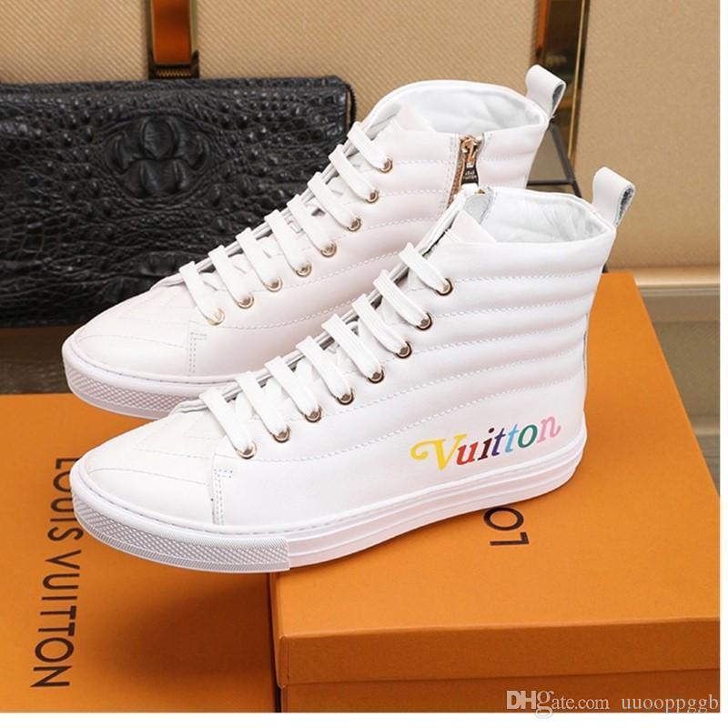 sapatos 2020QJ homens novos do oficial de sincronização website de luxo de moda casual, ao ar livre sapatos desportivos de viagem, entrega rápida caixa original