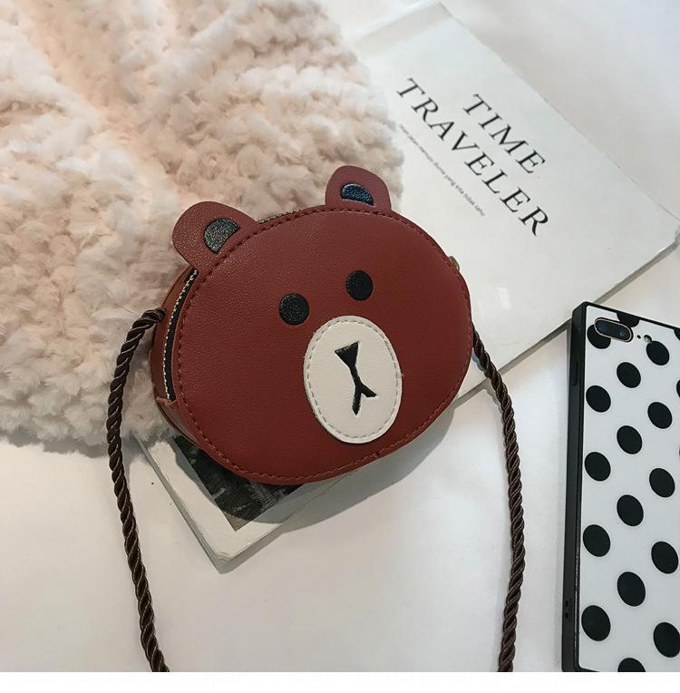 tong animaux Creative bao bao devrait tong Sac à bandoulière enfants dessin animé femme 2020 nouveau porte-monnaie sac messenger fille mignonne