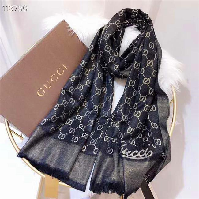 2020Woollen knitted scarf for men and women in autumn and winter, color stripe flower pattern, fine craft and fashion scarf