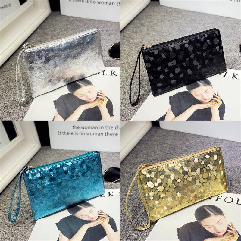 Padrão Pedra Maquiagem Clutch Bag Manga comprida Zipper Carteira Bolsa presente Coin Purse Baguette sacos de moda de alta qualidade 2 2mla B2