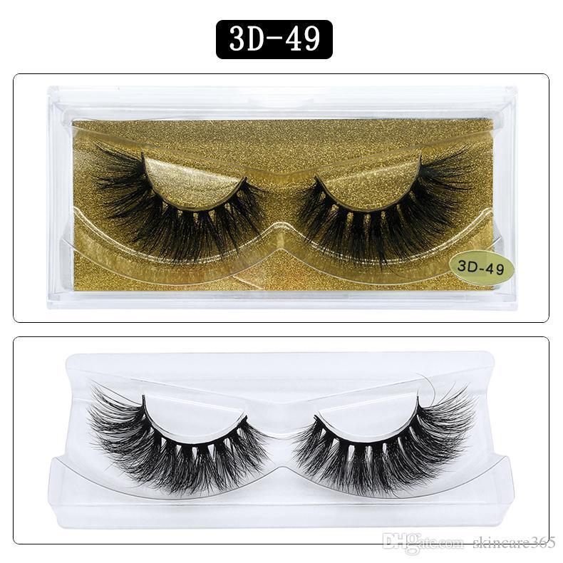 Lang und dick Wimpernverlängerung Nerz-Haar-Wimpern Big 3D 25 Styles Multi-Layer-15mm Nerz Wimpern Helle Augen falsche Wimpern Wimpern Box