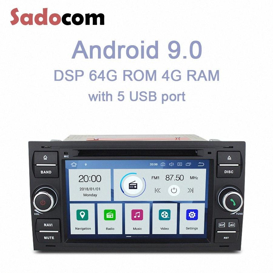 PX6 IPS 2 Din Android 9.0 DVD-плеер автомобиля 6 Ядро 64GB 4GB Авторадио для Galaxy Fusion C MAX S MAX Фокус Mondeo C S MAX Kuga 4vww #