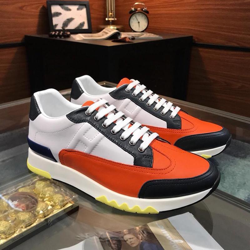 Nueva llegada Trail zapatilla de deporte de los hombres '; s Tamaño de los zapatos-top Zapatos de lujo -Up los hombres con cordones Zapatos De Moda Para Ho zapatos de estilo clásico de la manera más la