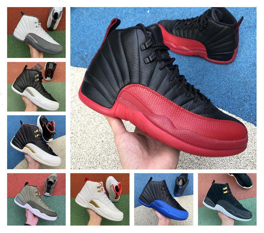 Alta calidad 12 12s zapatos de baloncesto zapatos de hombre gimnasio rojo reverso juego juego real francés azul FIBA MENS entrenadores deportes zapatillas deportivas entrenadores 7-12
