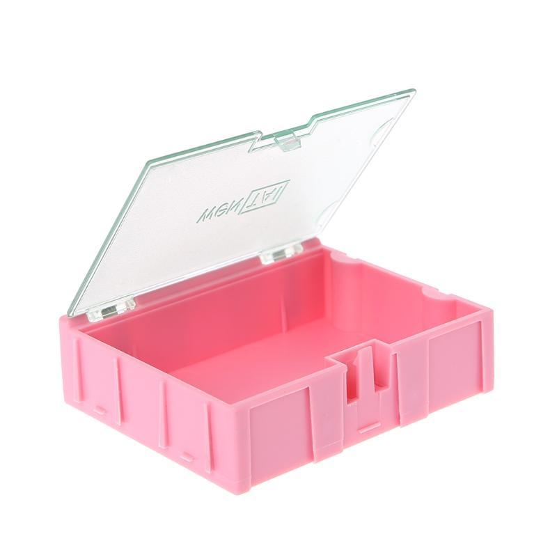 Casos componentes SMD SMT mini caja electrónica IC electrónicos de almacenamiento 75x63x21mm /