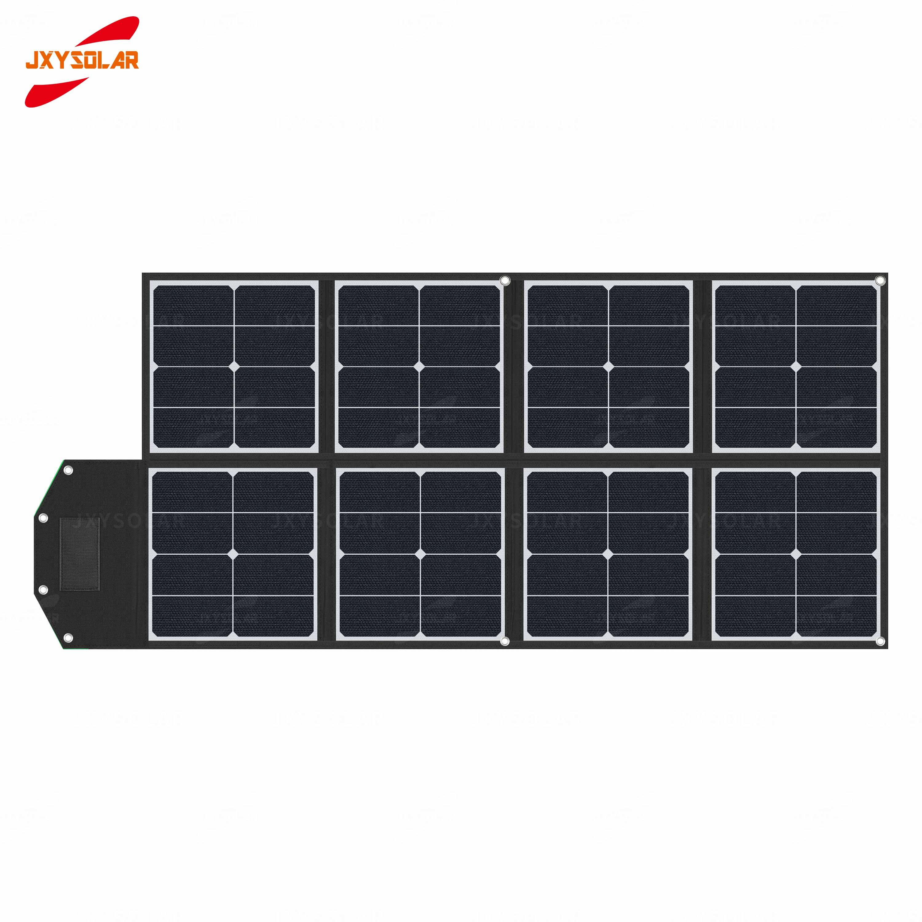 Factory direct sale 100W sunpower folding charging kit foldable solar panel portable blanket charger frame is made of etfe durable