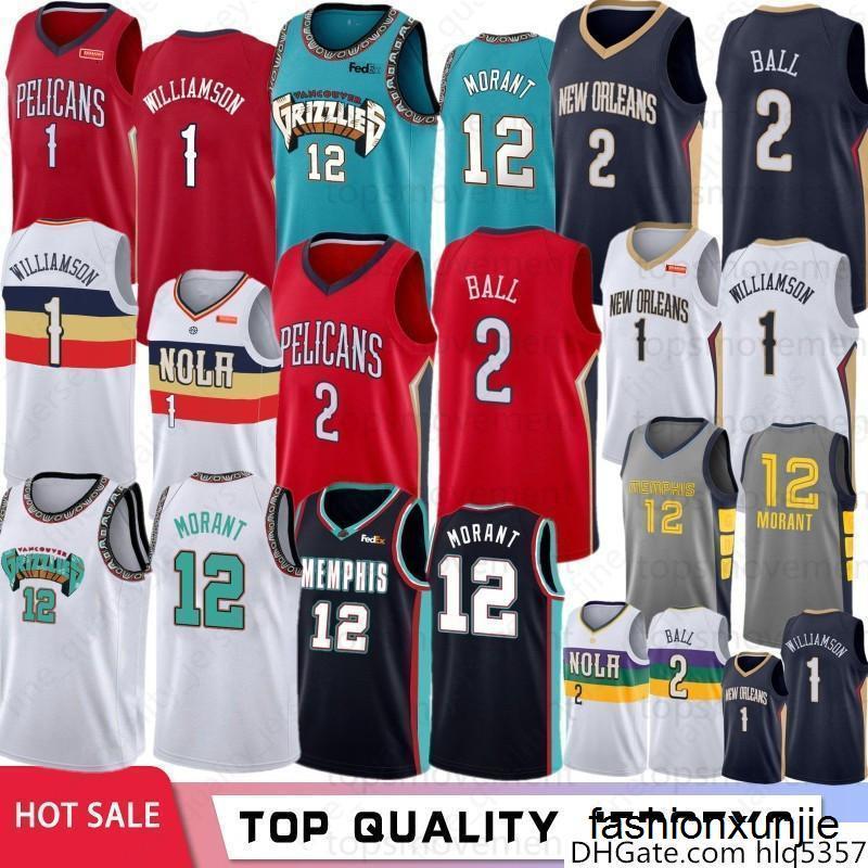 NCAA 1 Zion Williamson Koleji Basketbol Formalar 12 Ja Morant Üniversitesi Lonzo 2-Ball 34 Antetokounmpo Taslak Jersey Dikişli