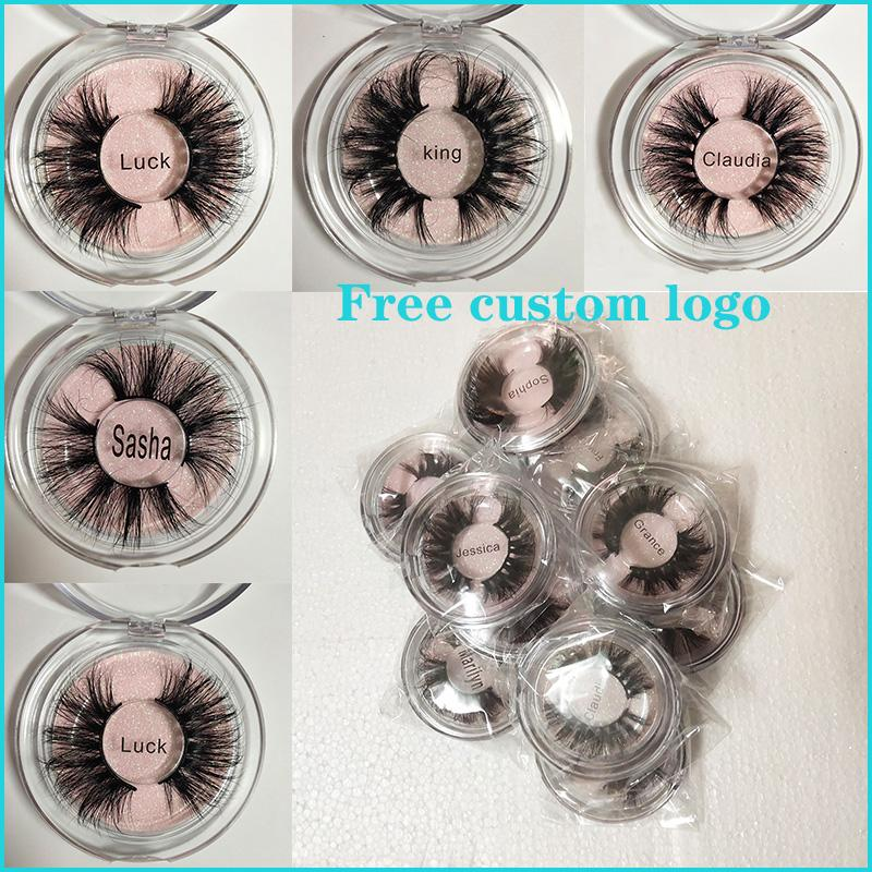 Newest 25MM 3D Mink Eyelashes False Eyelashes 100% Mink Eyelash Extension 5d Mink Lashes Thick Long Dramatic Eye Lashes DHL FREE