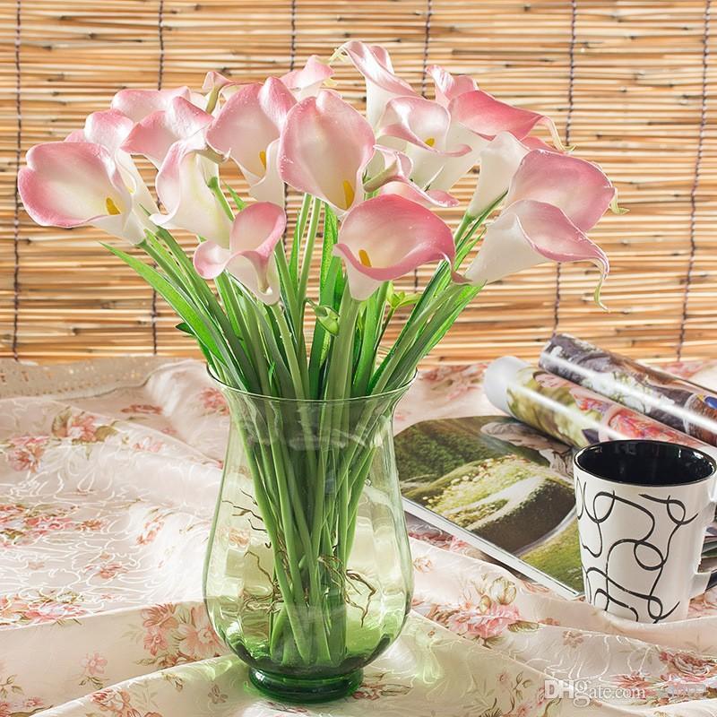 Калла Лили Искусственные цветы Моделирование Crafts Поддельный цветок Букеты для невесты Свадьба украшения Горячие Продажа 1 2сп II