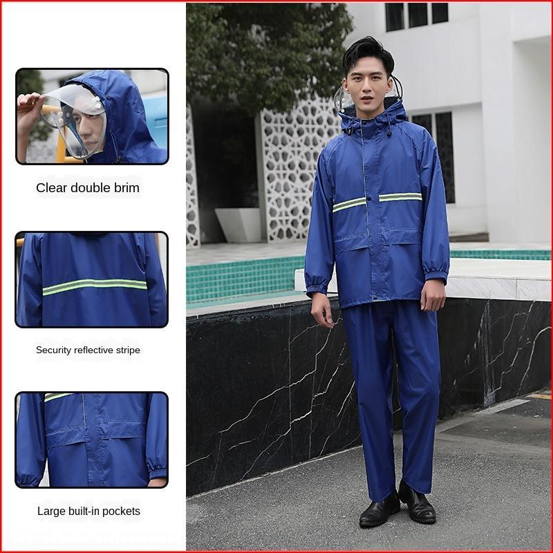 Anti-émeute pantalons de pluie corps costume féminin toute imperméable voiture hommes seule circonscription Batterie divisée épaissi pluie de mode