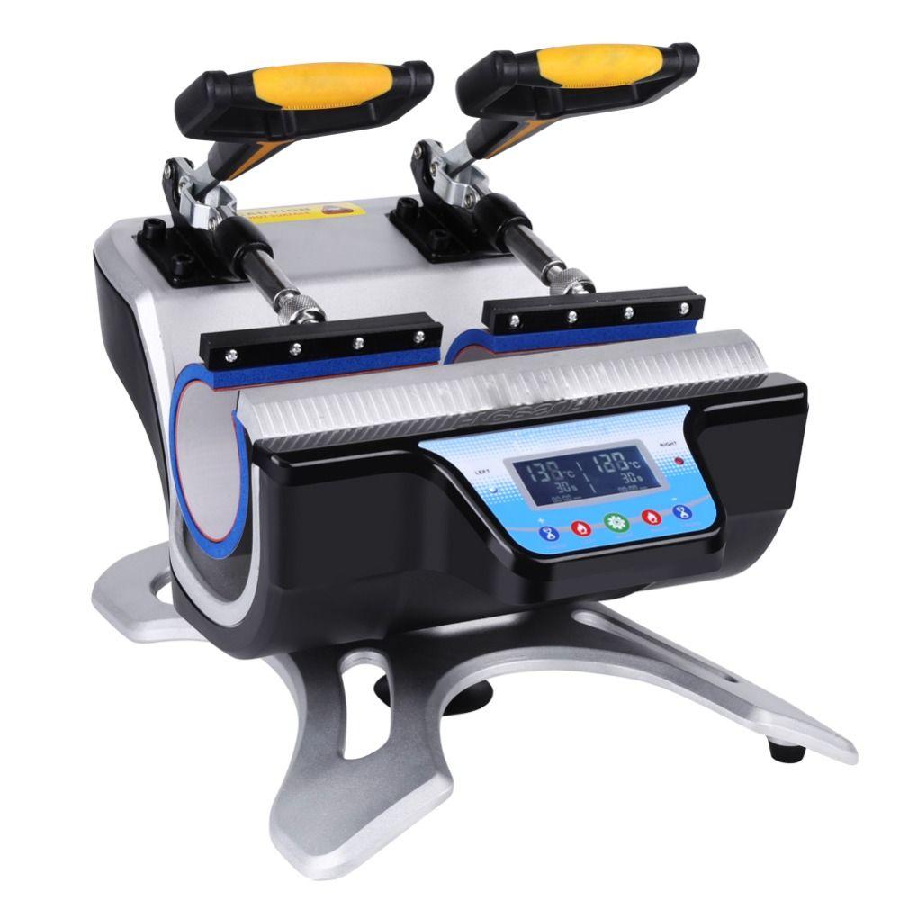 محطات مزدوجة التلقائي مزدوجة القدح الحرارة الصحافة التسامي آلة نقل آلة الطباعة 220 فولت الاتحاد الأوروبي أو 110 فولت الولايات المتحدة