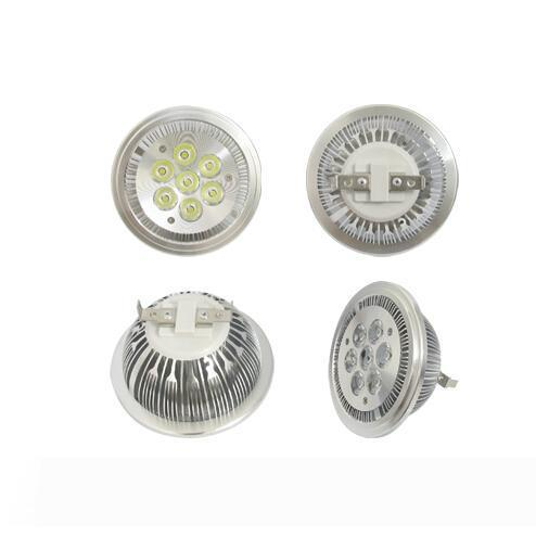 G53 AR111 Bombillas 7W LED Spotlights AC 110V 220V DC 12V Lampe 7leds Spotlight Amplight ampoule 700lm chaud / froid blanc dropshipping 7x1w