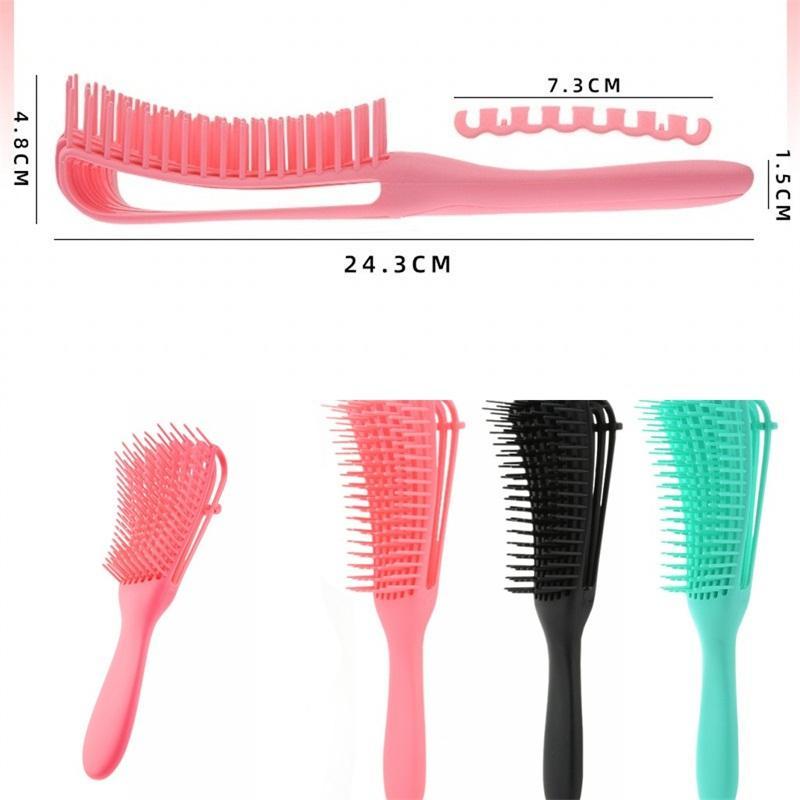 Plastik Saç Şekillendirme Tarak Multi Fonksiyonel Büyük Kavisli Combs Ev Sekiz Pençe Fırça Masaj Anti Statik Barber 5 2wm B2