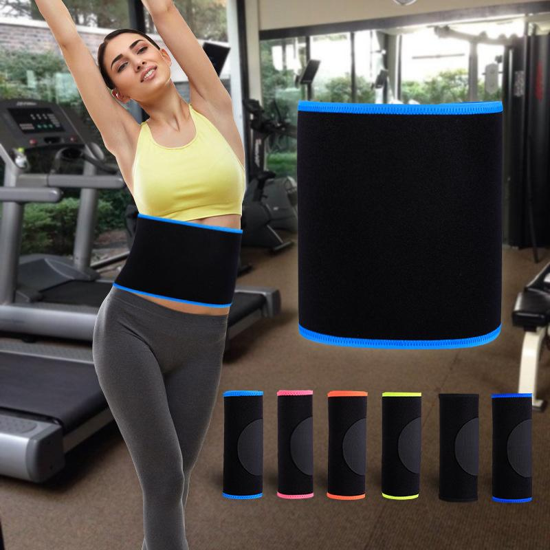 Profesional de la cintura Trimmer Deportes Gimnasio Sweat correa de la aptitud de la cintura Soporte lumbar Volver Sudor Negro neopreno para las mujeres de los hombres