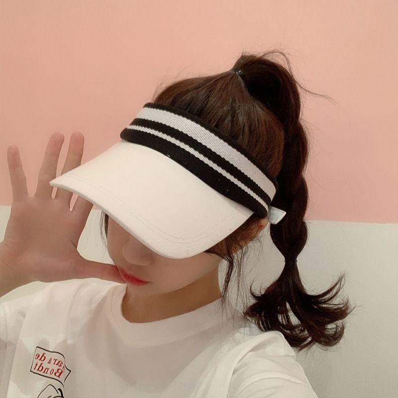 estilo de corrida esportes coreano superior vazio feminino verão coreana running sol chapéu de lazer chapéu de sol versátil moderno artística