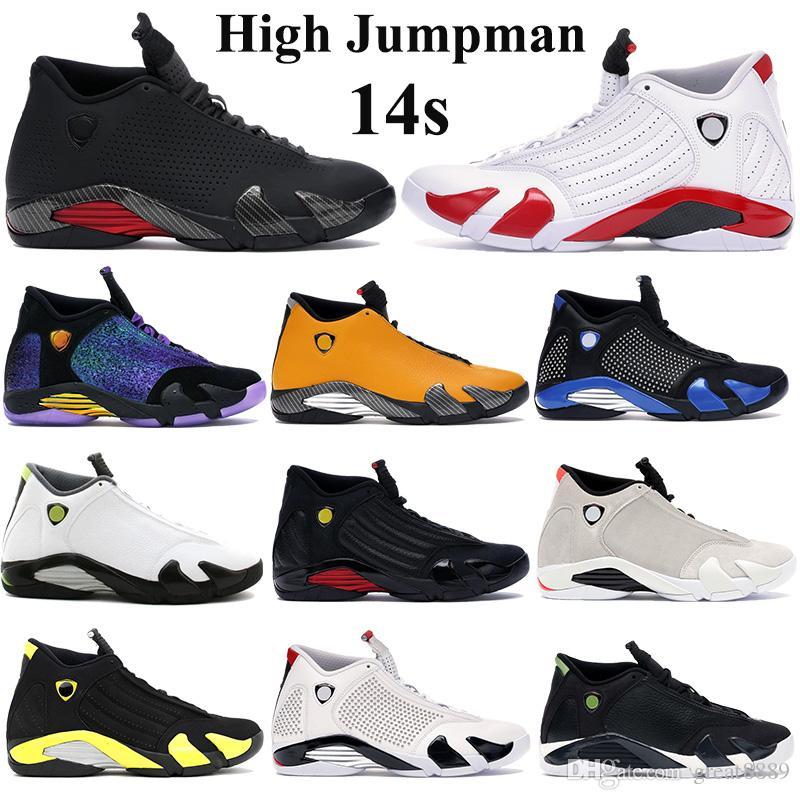 Eğiticilerin 40-47 gök Yüksek Kalite Erkekler 14s Basketbol Ayakkabıları Yüksek Jumpman Sneakers spor salonu kırmızı turbo siyah antrasit Üniversite Altın son atış