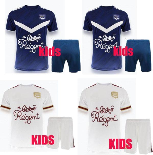 20 21 Girondins de Bordeaux Jerseys de football 2020 2021 Maillot de pied Briand S.Kalu Kamano Benito de Oudin Kit enfants Kit de football de base
