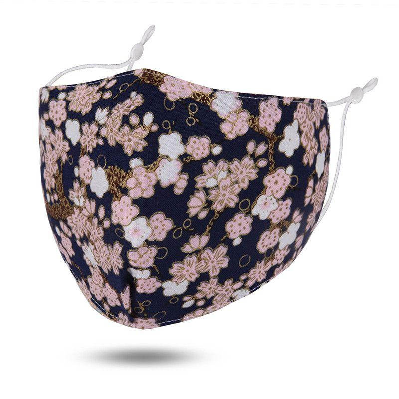 Auf Lager Blumendruck Maske Breath faltbare Mund Masken Wiederverwendbare Blume Masken Gesichtsmaske Housekeeping 18 Styles Maske