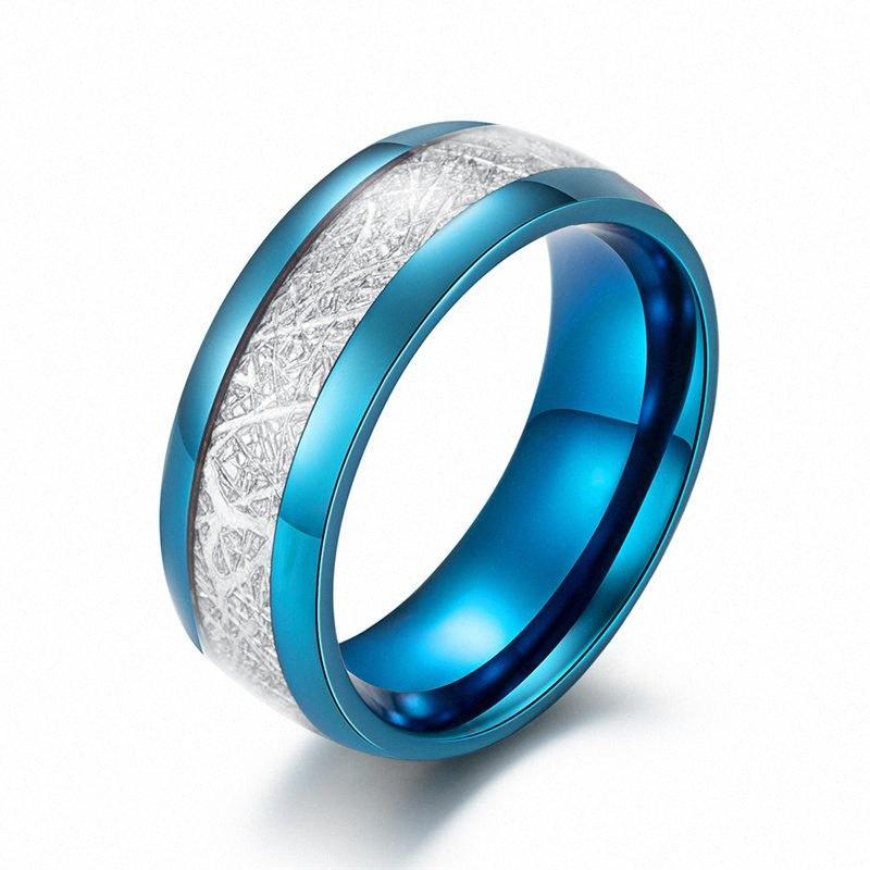 Vendita Seta calda fioretto maschile anello di compleanno ragazza in acciaio inossidabile coppia Ring per le donne cerimonia nuziale di aggancio Female MyZ6 #