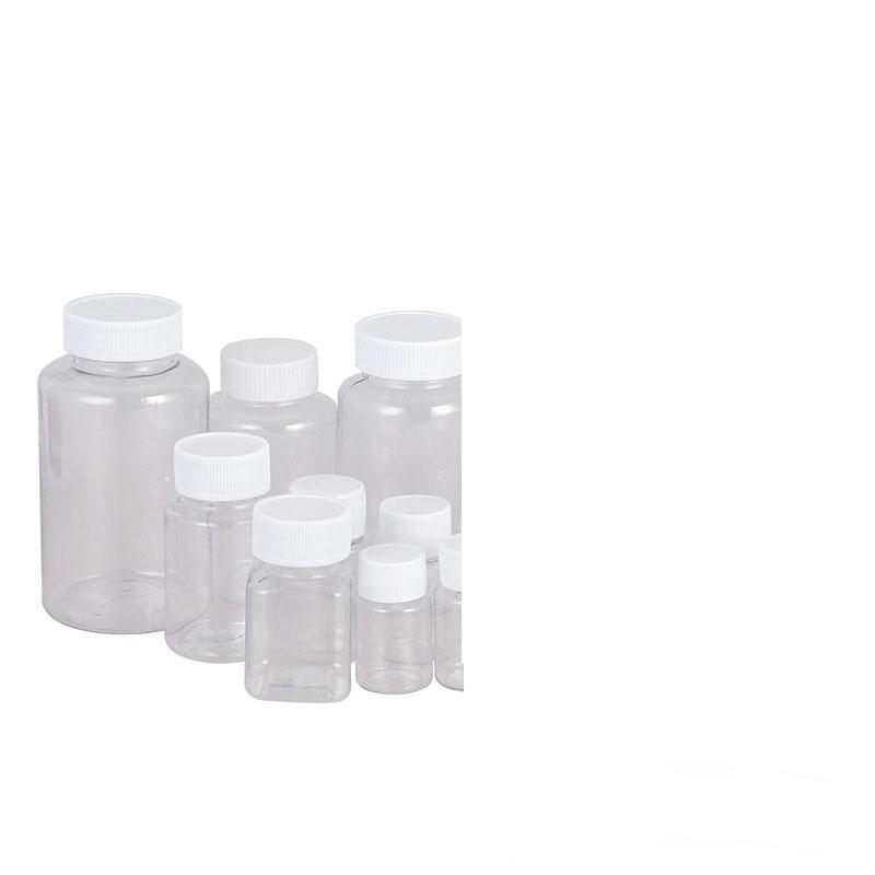 Очистить ПЭТ пластиковые бутылки широкий рот бутылки для упаковки лекарств и продуктов питания 5мл до 300мл оптовые Очистить ПЭТ пластиковые бутылки широкий рот