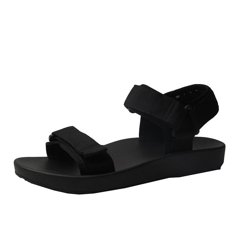 2020 estate di moda per donna Scarpe peep toe tacco solido piano casuale Piattaforma Loop comodo pattino dei classici signore Sandali piatti