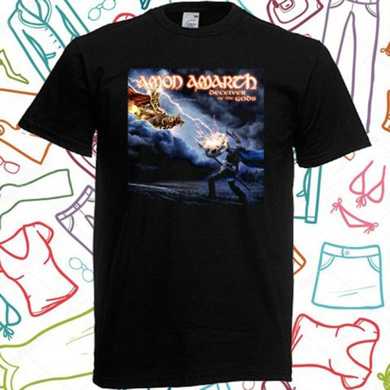 AMARTH Trompeur AMON des dieux T-shirt noir hommes Taille de S à 3XL