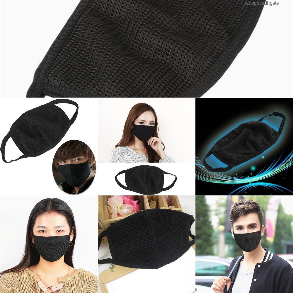 Da Máscara de poeira PM2.5 Face em cobrir a boca Respirador Dustproof Anti-bacteriana lavável reutilizável Ice Silk algodão Máscaras Tools