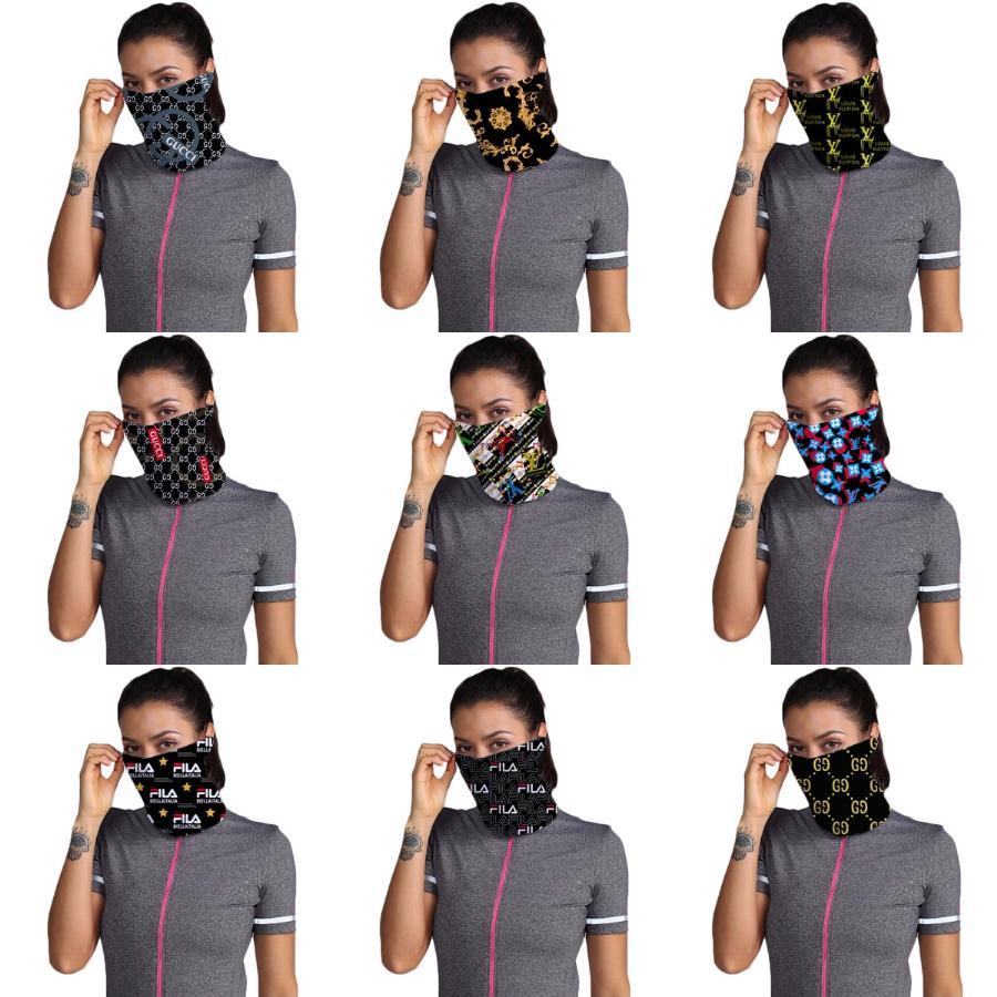 Мужская магия шарф банданы Ice Cotton Маска Открытый ветрозащитный Dust Veil Зонт шеи Дизайнер Защитная маска K985-1 # 107 # 883