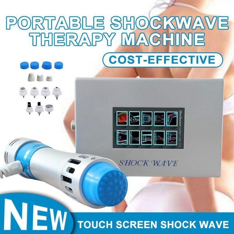 2020 Shockwave Terapi Makinesi Vücut Relax Ağrı kesici Dokunmatik Ekran Ed Tedavi Vücut Masaj Sağlık Cihazı Satışa