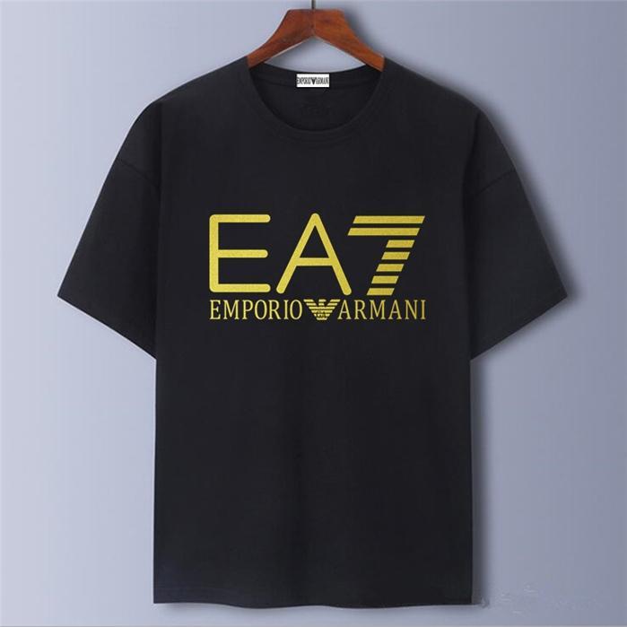 T-shirt de luxo para homens e mulheres casuais manga curta Forma do bordado de alta qualidade T-shirt hip hop s-5XL / EA7