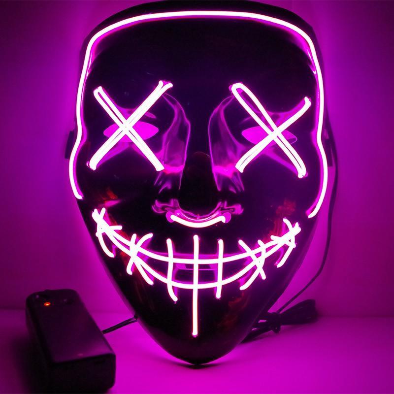 Máscara de Halloween LED partido do carnaval Luminous máscaras de horror as máscaras Purge do ano da eleição engraçados Cosplay Festival suprimentos