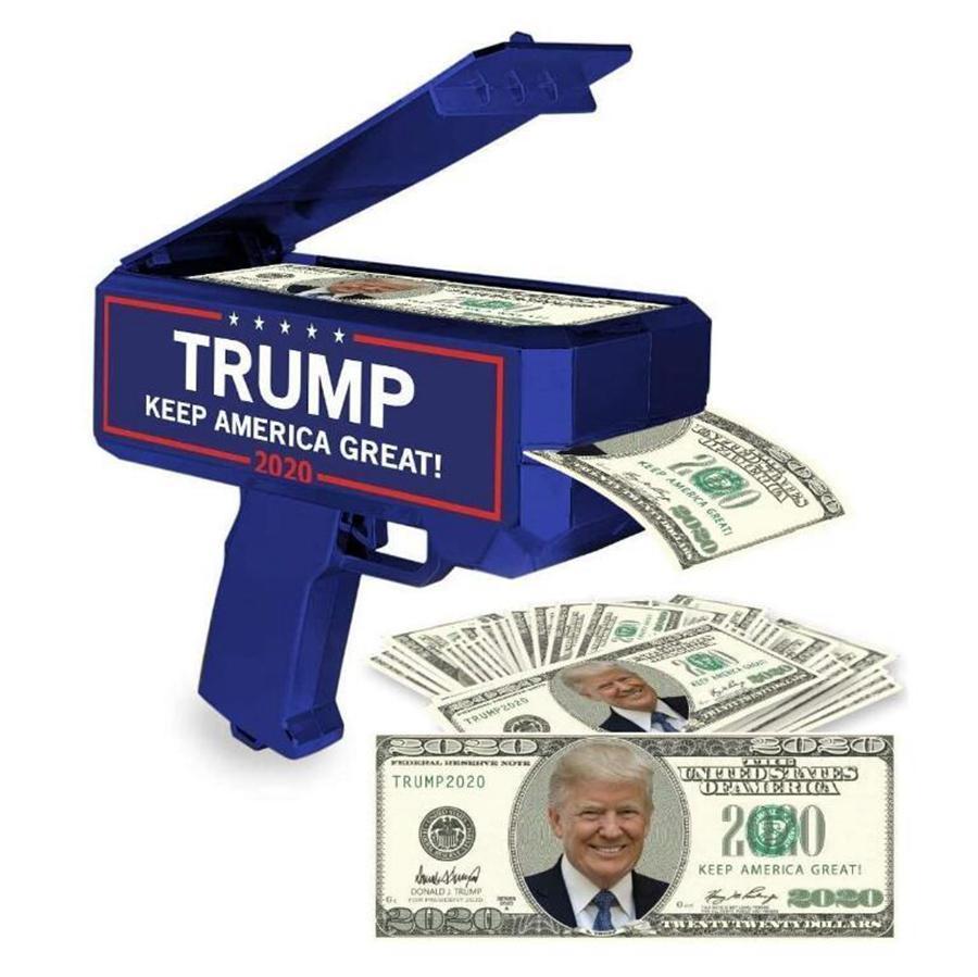 Деньги Gun Trump 2020 Письмо Printed президента США ПЕРЕИЗБРАНИЕ Деньги Пистолеты партия Фавор OOA8004
