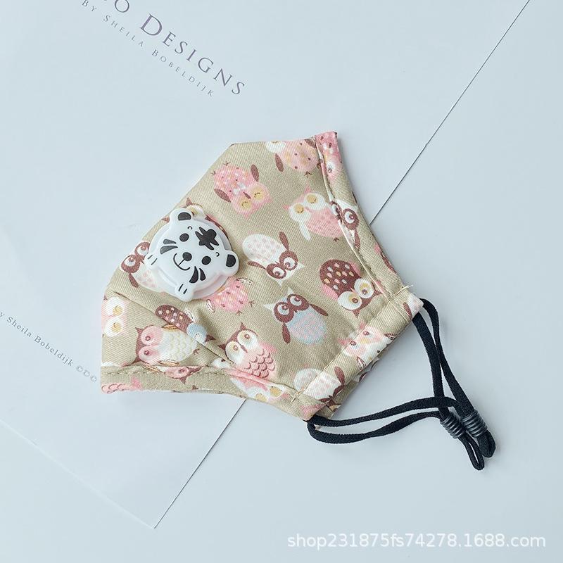 Kindermaske Panda Tiger Atemausrüstung mit 2 Filter grenzübergreifende Sonder für PM2.5 Masken staub- und atmungsaktive Baumwolle 2-7 Kinder