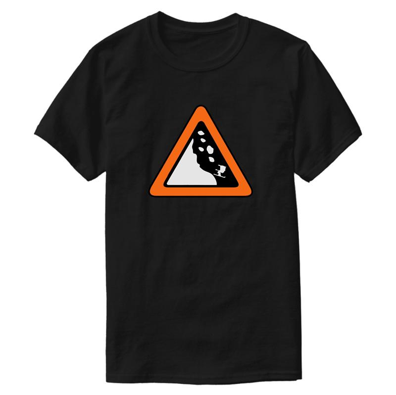 Creative Building Avalanche Sign T Shirt 2020 Clothing Euro Size S-5xl Novelty Men's T Shirt Fitness Anti-Wrinkle Hiphop