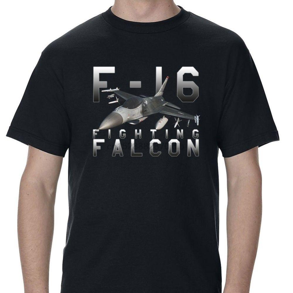 2019 Brand Tshirt Homme Tees F-16 Fighting Falcon Custom Men T-Shirt