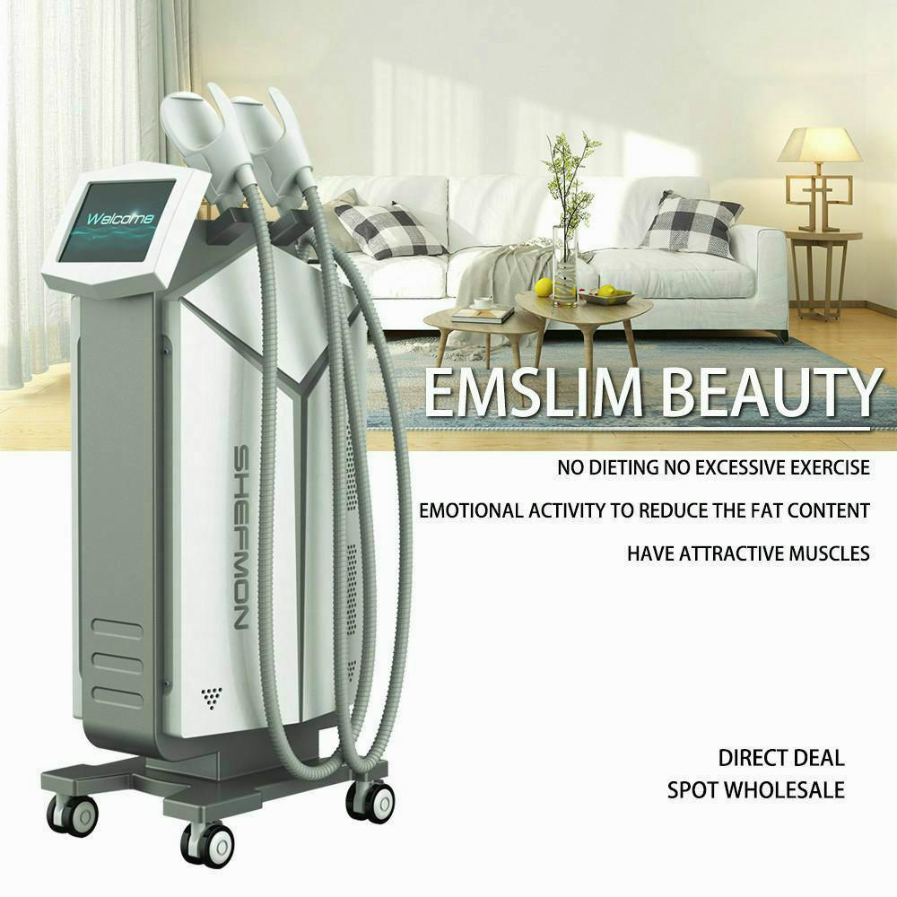 Muscle nuevo estimulador muscular eléctrico Emslim Hifem electromagnética estimulador Emslim máquina electromagnética Mejora del tono abdominal